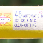 Western Super-Match 45 Automatic Ammunition Box Short Side