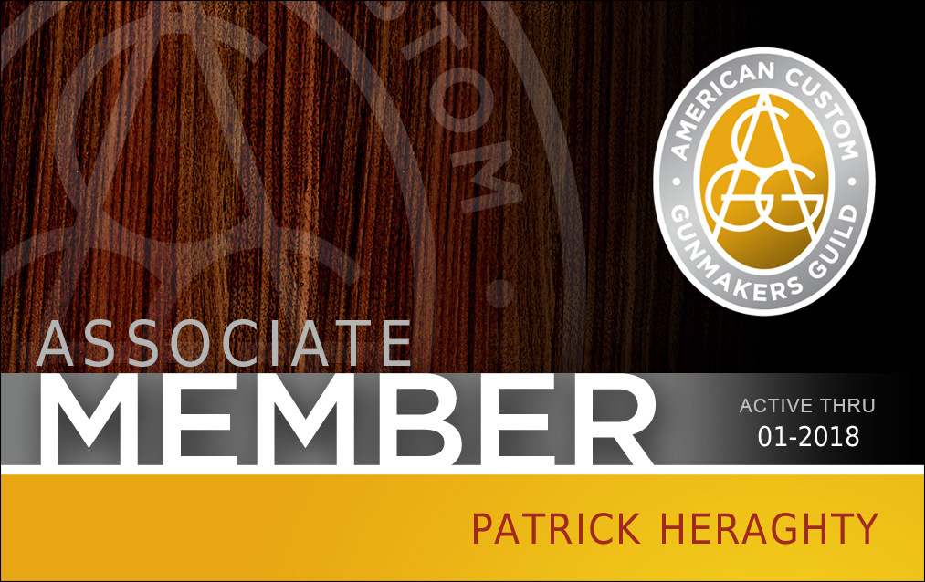 American Custom Gunmakers Guild Associate Membership Card (Patrick Heraghty)